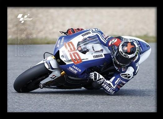 MOTO GP - Lorenzo tablou Înrămat cu Geam