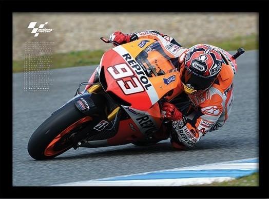 MOTO GP - Marquez tablou Înrămat cu Geam