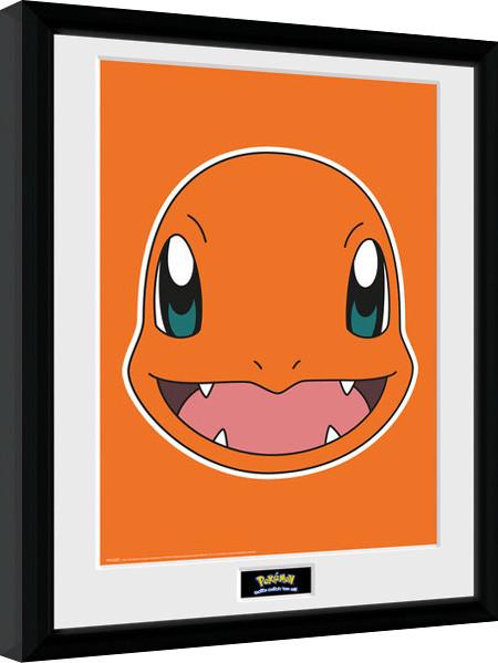 pokemon charmander face afiș înrămat europosters ro