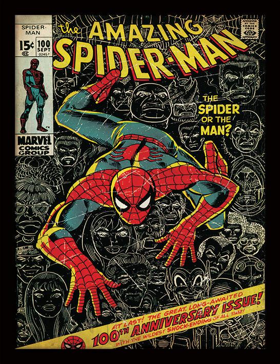 Afiș înrămat Spider-Man - 100th Anniversary
