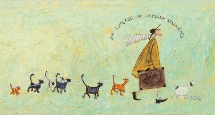Tablou Canvas Sam Toft - The suitcase of sardine sandwiches