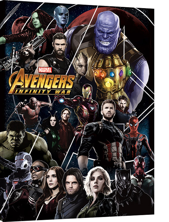 Avengers Infinity War - Heroes Unite Tablou Canvas