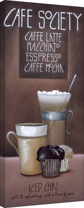 Mandy Pritty - Café Society Tablou Canvas