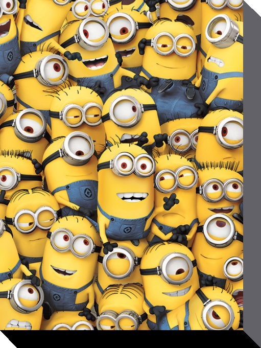 Minions (Despicable Me) - Many Minions Tablou Canvas