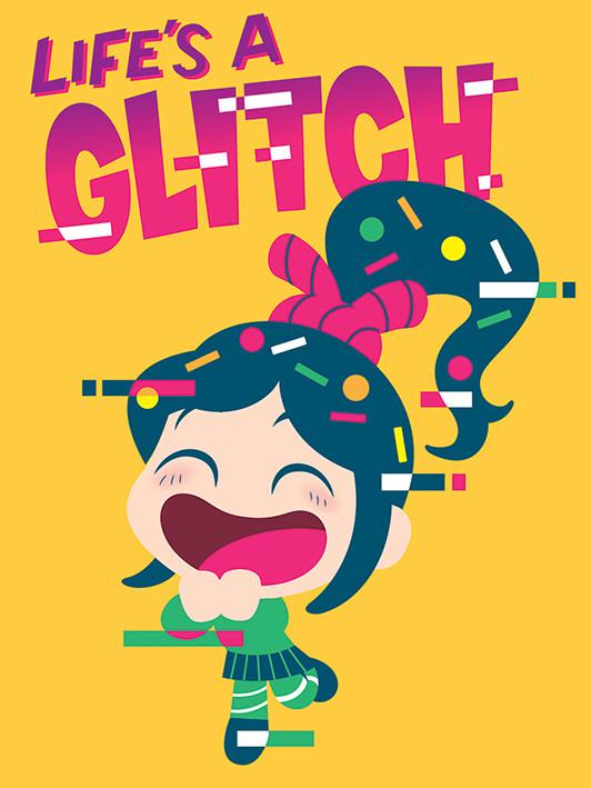 Ralph Strica-Tot - Life's a Glitch Tablou Canvas