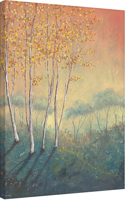 Serena Sussex - Silver Birch Tree in Autumn Tablou Canvas