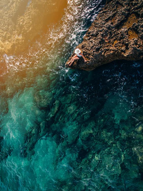 Sunset at coast Tablou Canvas