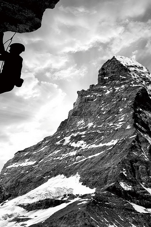 Tablouri pe sticla Be Brave - Climb the Mountain