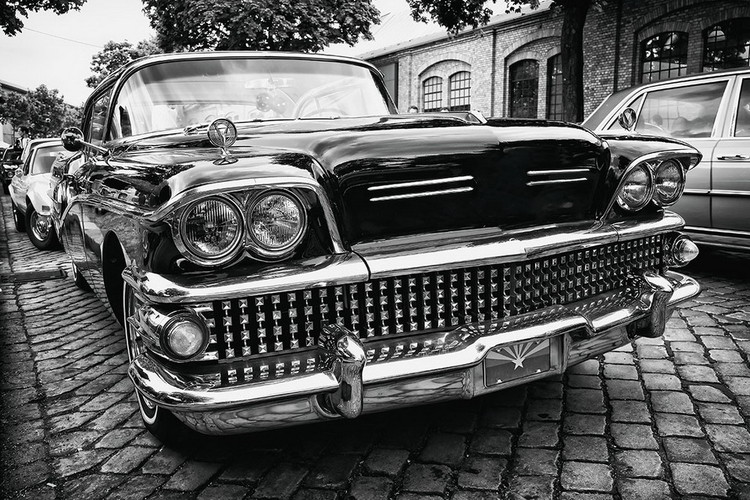 Tablouri pe sticla Cars - Black Cadillac