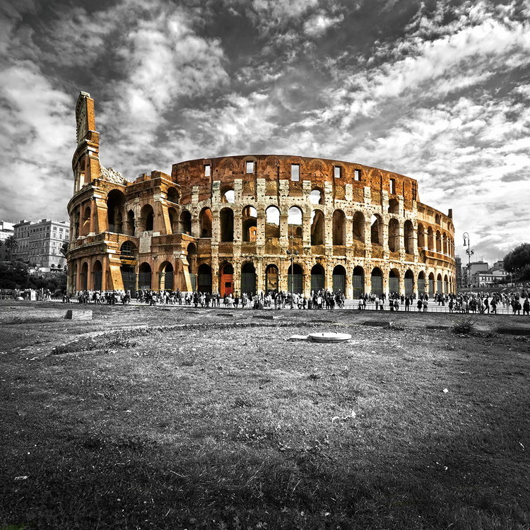 Tablouri pe sticla Colosseum - b&w