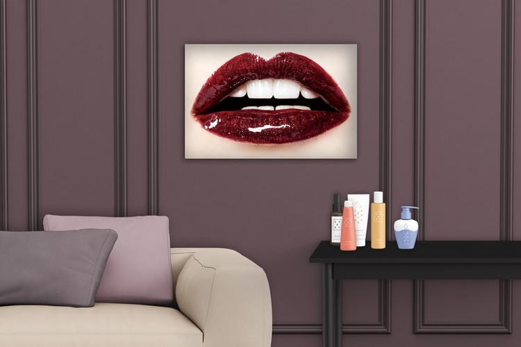 Tablouri pe sticla Dark Red Lips - Passion