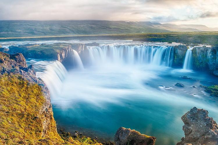 Tablouri pe sticla Sea - Calm Waterfall