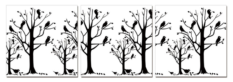 Modern design - black trees Tablou