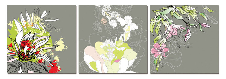 Modern Design - Colorful Blossoms Tablou