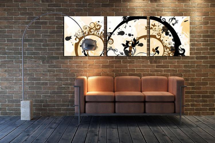 Modern Design - Flower Spirals Tablou