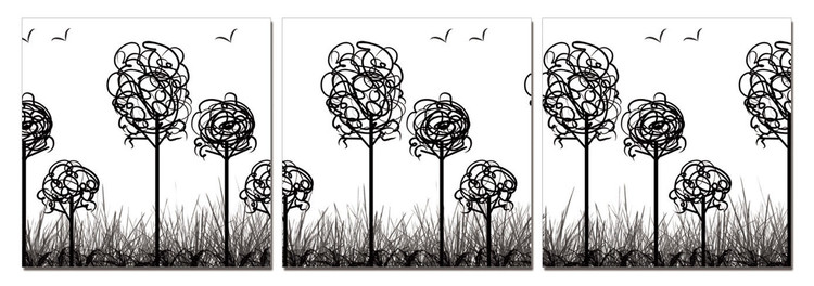 Modern Design - Trees with Birds Tablou