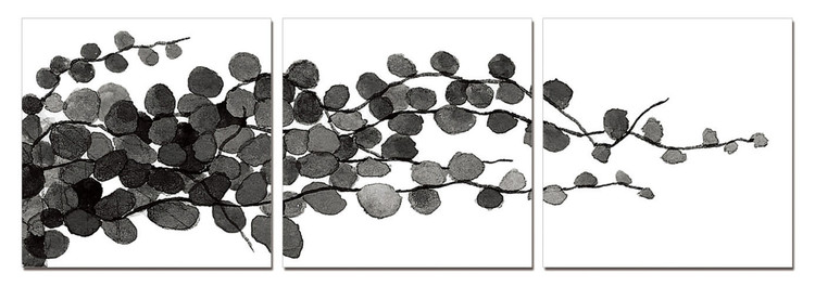 Modern Design - Young Branches (B&W) Tablou