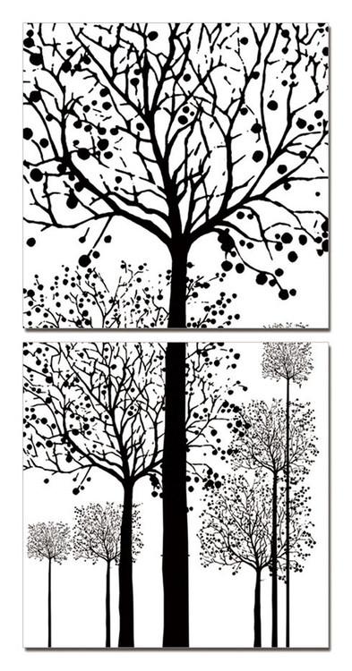 Painted Trees Tablou
