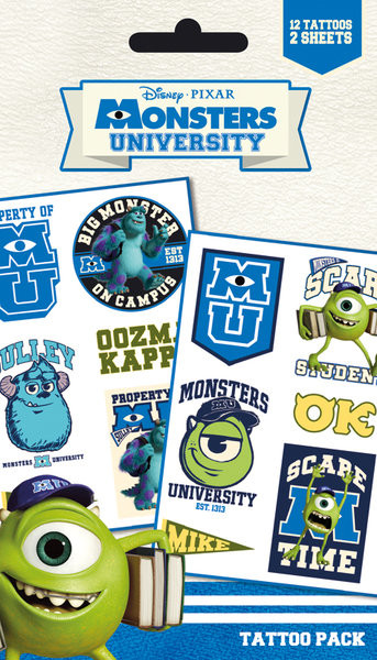 Tätowierung MONSTERS UNIVERSITY - mike & sulley