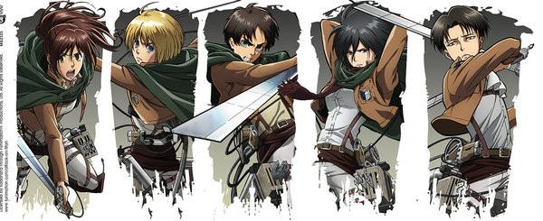 Attack On Titan Karte.Tasse Attack On Titan Season 2 Character Montage