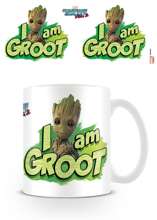 Guardians Of The Galaxy Vol 2 Kaffeebecher I Am Groot weiß