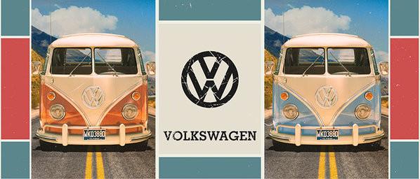 Tasse  VW Volkswagen Beetle - Grid