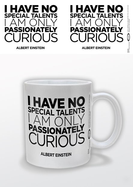 Albert Einstein - Only Curious Tasse