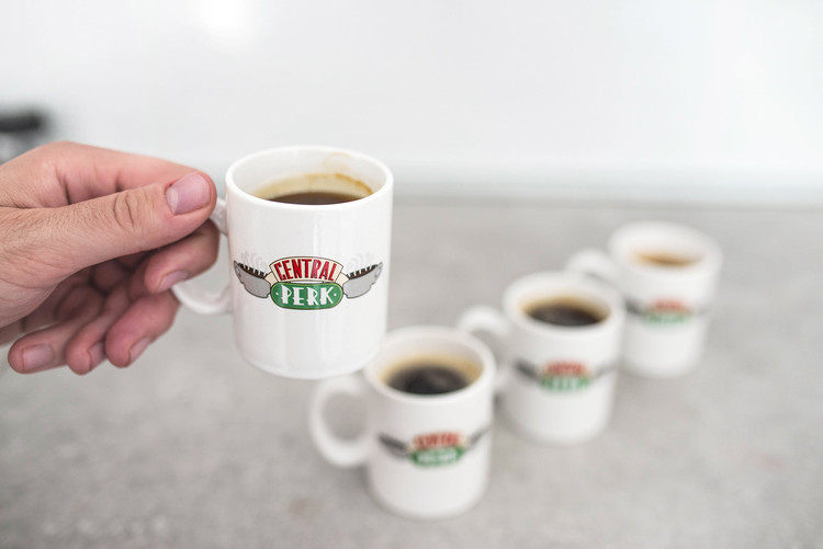 Friends Central Perk - Set 4pcs Original Espresso Mugs Tasse