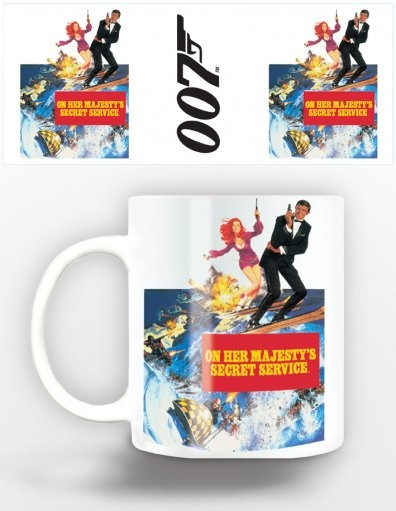 James Bond - on her majestys Tasse