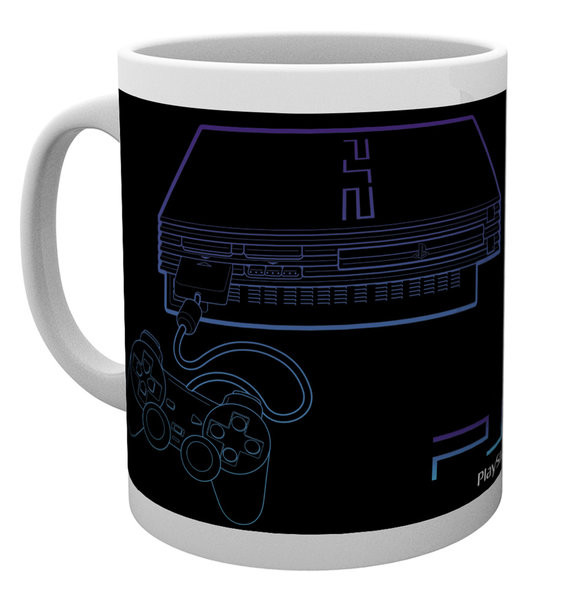 Playstation - PS2 Lineart Tasse