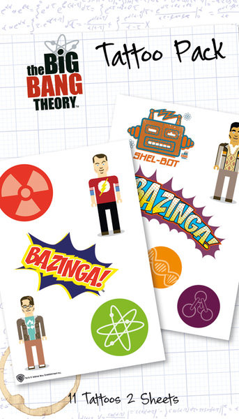 BIG BANG THEORY - bazinga  Tatovering