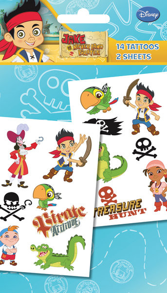 JAKE & NEVERLAND PIRATES - characters  Tatovering