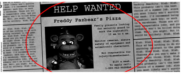 Taza Five Nights At Freddys Help Wanted