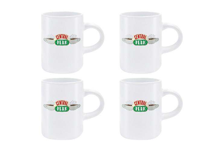 Taza  Friends Central Perk - Set 4pcs Original Espresso Mugs