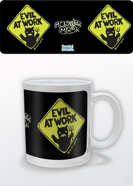 Taza  Humor - Evil at Work, David & Goliath