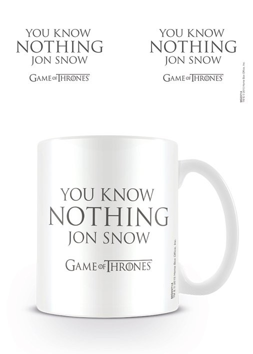 Taza  Juego de Tronos - You Know Nothing Jon Snow