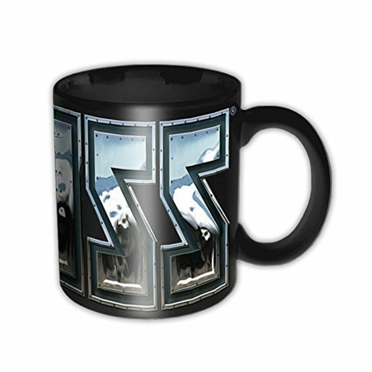 Taza  Kiss - Chrome Logo
