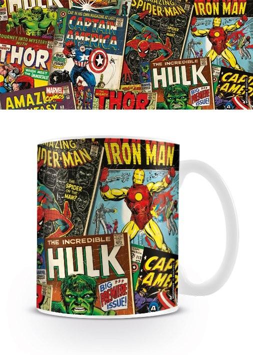 Taza  Marvel Retro - Covers