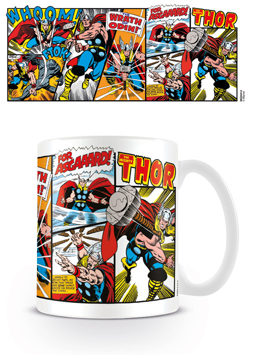 Taza  Marvel Retro - Thor Panels
