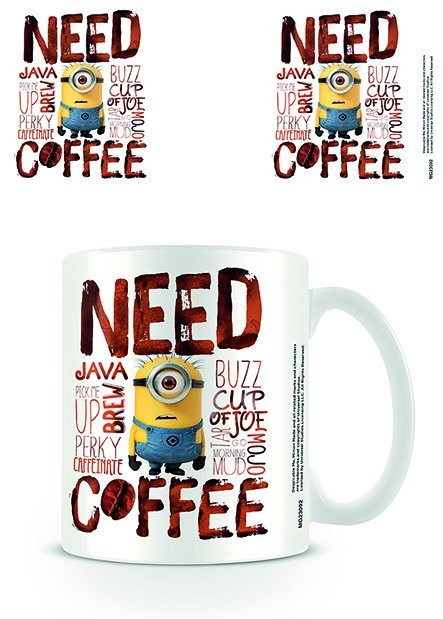 Taza  Minions (Gru: Mi villano favorito) - Need Coffee