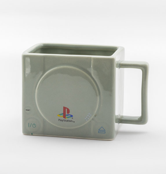 Taza  Playstation 3D Console - Raised Hand-Painted Buttons