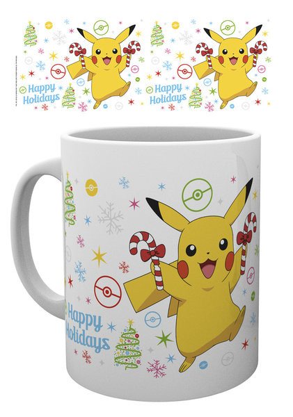 Taza  Pokemon - Xmas Pikachu