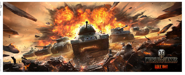 Taza  World Of Tanks - Roll Out