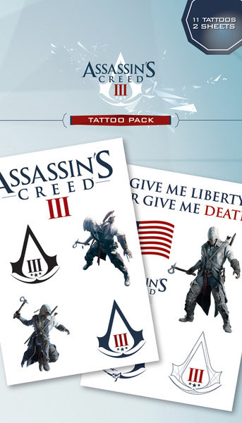 Tetování Assassin's Creed III - connor & logos