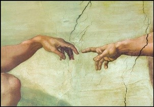 The Creation of Adam (Part) Festmény reprodukció
