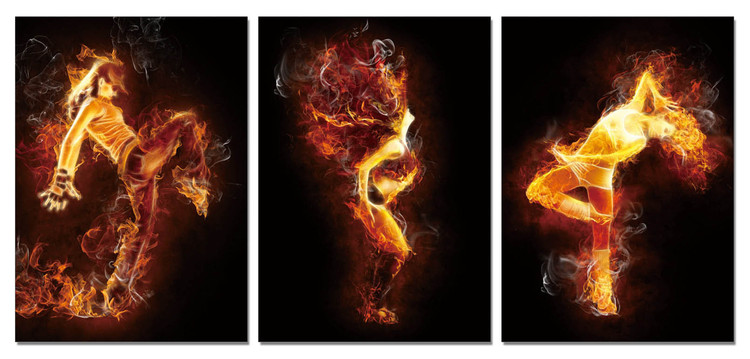 The fiery woman Modern tavla