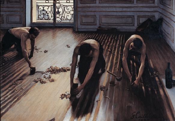 The Floor Scrapers, 1875 Reproduction d'art