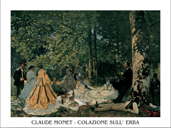 The Luncheon on the Grass, 1865-66 Festmény reprodukció