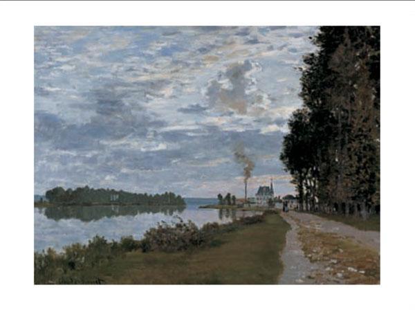 The Promenade at Argenteuil Festmény reprodukció