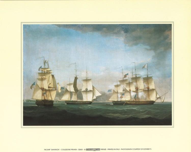 The Ship Shannon Reproduction d'art
